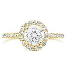 1.76 CT VS1/D ROUND CUT DIAMOND SOLITAIRE ENGAGEMENT RING 14K YELLOW GOLD