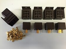 5 x 12V 30/40A 5 pin relays with holders and terminals