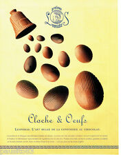 PUBLICITE ADVERTISING 036  1999  Pralines Leonidas  chocolats Cloche & oeufs