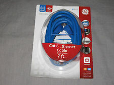 GE Cat 6  Networking Cable Ethernet RJ45M 7 ft. Cable Internet Home Office NEW!