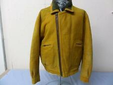 "Mens SHEARLING FLYING Jacket  Size XL 46"" TAN GOOD SKU No T840"