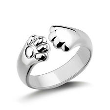 Women Animal Cat Paw Claw Open Ring Silver Finger Ring Jewelry Charm Hot