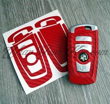 RED CARBON Fiber Key Fob Sticker Decal Overlay FITS ALL BMW F SERIES / M Sport
