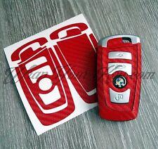 Red portachiavi in fibra di carbonio adesivo decalcomania Overlay adatto a tutte le BMW Serie F/M Sport