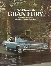 Plymouth Gran Fury 1975 USA Market Sales Brochure Custom Brougham
