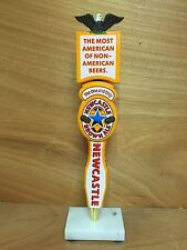 Newcastle New Castle Brown Ale Beer Tap Handle & 4 Toppers Eagle Loved NEW & F/S