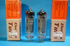 Coppia 6AQ5=EL90 =6005 General Elettric Tube Valve Rohr
