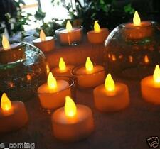Amazing 6pc LED Tea Light Candles Realistic Battery-Powered Flameless Candles