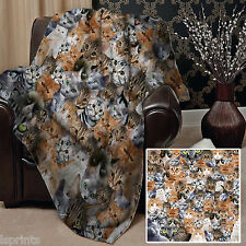 CATS ALL OVER DESIGN SOFT FLEECE BLANKET COVER THROW BLANKET BED L&SPRINTS