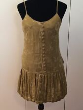 BCBG Girls Olive Dress Bubble Hem Spaghetti Straps Size Small
