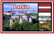 LATVIA - SOUVENIR NOVELTY FRIDGE MAGNET - BRAND NEW - GIFT