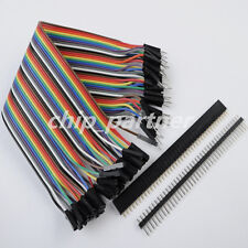 120pcs Male to Female Dupont Cable +10x female Connector +10x 40Pin Male Header
