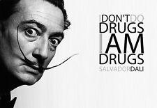 Salvador Dali - I dont do Drugs A3 Art Poster Print
