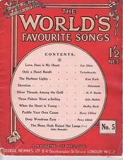 GEORGE NEWNES World's Favourite Songs no.5 Sheet Music