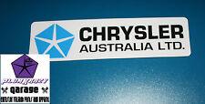 """""""CHRYSLER AUSTRALIA LTD""""Valiant Dealer Decal,Charger,Pacer,R/T,VG,VH,VJ,VK,CL,CM"""