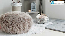 LIVING CONCEPT LUXURY LUSH & SOFT ALPACA FAUX FUR BROWN BEAN BAG POUF COVER