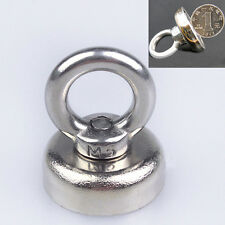 Strong N52 Neodymium Eyebolt Circular Rings Magnet 25 x 52 mm For Salvage
