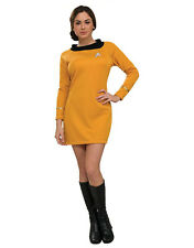 "Star Trek Original Women Gold Costume, MED,(USA 10-14),BUST 38-40"", WAIST 31-34"""