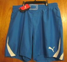 Puma PowerCat 1.10 Adult Men's Royal Blue/White Soccer Shorts Size XL