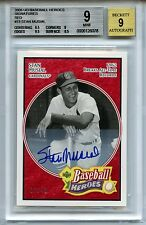 2005 Upper Deck Baseball Heroes #73 Stan Musial SP # 07/49 Autograph BGS 9 Auto