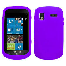 Purple Soft Silicone Case Cover for Samsung Focus i917