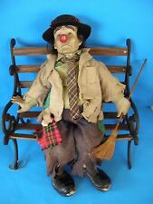 VINTAGE DYNASTY DOLL COLLECTION CLYDE THE CLOWN PORCELAIN DOLL WITH BROOM & HAT