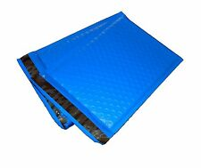 100 4x8 BLUE Poly Bubble Mailer Envelope Shipping Wrap Air Mailing Bags 4x8