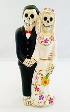 "7.5"" Dia De Los Muertos Santisima Muerte Santa Married Couple Statue From Peru"