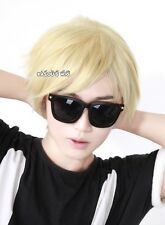 Homestuck Dave Strider. Dirk Strider pale blonde short layers cosplay wig