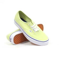 Vans Off The Wall Authentic Shadow Lime Green True White Shoes Mens 7.5 Womens 9