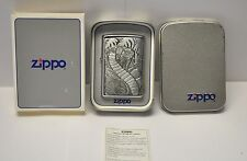 RARE 1996 Chrome Barrett Smythe King Cobra Zippo Lighter B72 New old stock