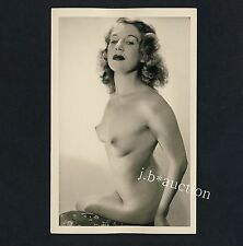 #27 rössler Akt foto 14 x 9 nude woman study * vintage 50s studio real photo pc