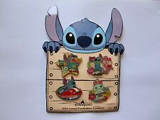 Disney Pin - HKDL Annual Passholder Stitch, Angel, and Scrump Set