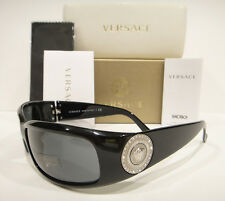 VERSACE 4044B SUNGLASSES 4044-B BLACK SILVER (GB187) AUTHENTIC NEW