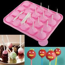 New Silicone Tray Pop Cake Stick Mould Lollipop Cupcake Baking Mold 22.5*18*4cm