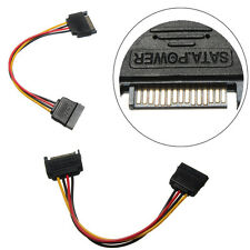 1x SATA 15 Pin Male to 15 Pin Female M/F Power Converter Adapter Extension Cable