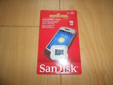 Original SanDisk 16GB Micro SD SDHC 16G Memory Card SandDisk *NEW/SEALED*Free SH