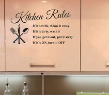 Removable Kitchen Words Wall Stickers Decal Home Decor Vinyl Art Mural New DIY