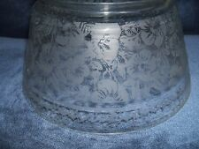 "***** ANTIQUE 3 3/4"" ACID ETCHED GLASS LAMP SHADE *****"