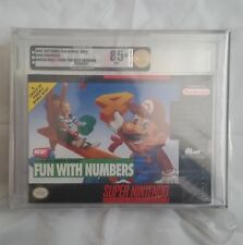 Mario's E.Y. Fun With Numbers: (Super Nintendo, SNES) NEW SEALED VGA 85+, GOLD!