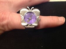 Butterfly Ring with clock