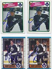 1989 OPC #22 Gary Leeman Toronto Maple Leafs Autographed Hockey Card