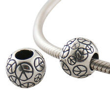 PEACE symbol - CND - Genuine Solid 925 sterling silver European charm bead