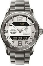 Victorinox Swiss Army Men's CHRONO CLASSIC 241301 Silver Stainless-Steel Swiss Q