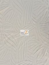 """DESIGNER EVENING DRESS LACE SEQUINS FABRIC - White - 56"""" WIDTH SOLD BY THE YARD"""