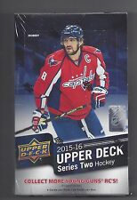 UPPER DECK 2015-16 SERIES 2 FACTORY SEALED HOCKEY HOBBY BOX