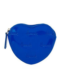 HARRODS LONDON CHRISTIE ROYAL BLUE HEART DESIGN COIN PURSE - GREAT GIFT