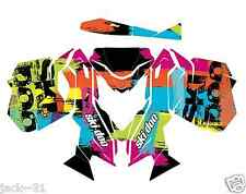 NG RACING SKI-DOO REV XM SUMMIT SNOWMOBILE SLED GRAPHIC KIT WRAP FLUO 13 - 2015