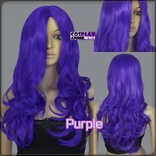 60cm Purple Heat Styleable No Bang Curly wavy Cosplay Wigs 38_004
