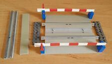 LEGO 12V 158 Railroad Crossing Gate 12 Volt Train Track Railway Eisenbahn Gray